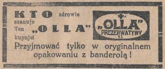 """Prezerwatywy """"OLLA"""""""